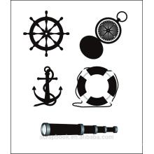 Selos clara de oceano navio para scrapbook