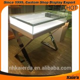 whosale factory glass display cabinet showcase for shop
