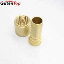 El conector de cobre amarillo de las colocaciones de la entrerrosca del OEM de la alta calidad de GutenTop conecta el tubo flexible