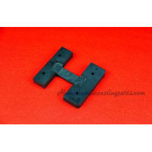 Black Anodize CNC Machined Parts Aluminum Machined H Profil