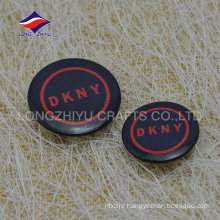 Custom fashional round metal printed cloth tin pin
