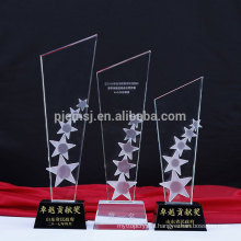 Factory supply attractive price custom crystal award trophy