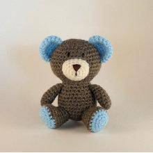 Soft baby toy stuffed knitted teddy bear crochet