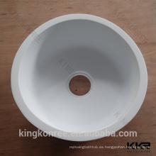 fregadero de cocina de superficie sólida de acrílico con forma redonda