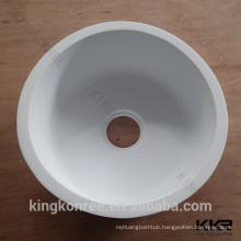 round shaped acrylic solid surface kitchen sink