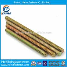 Цветная оцинкованная углеродистая сталь с полным резьбовым стержнем