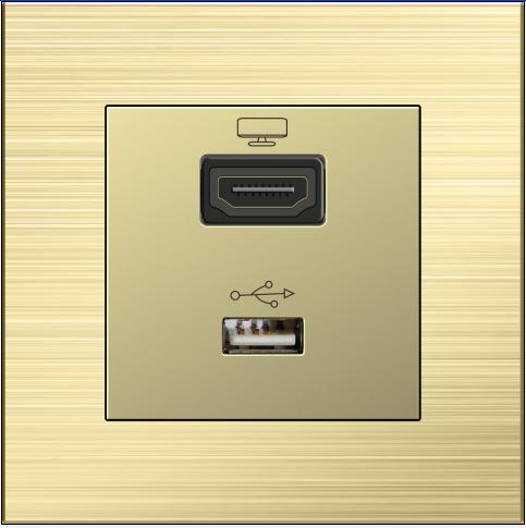 USB Port Good Reputation HDMI Sockets Wall Plate
