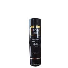 Envase cosmético negro del tubo de metal de los envases 200g, tubo redondo plástico