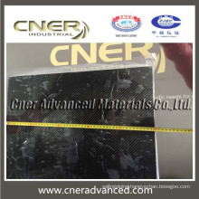 High quality square carbon fibre laminated sheet of 6mm thickness