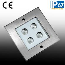 4W CREE LED Deck Inground Light, Square Floor Light