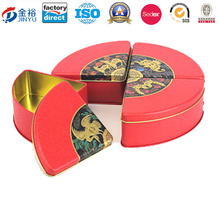 Customize Round Pastry Tin Can Customized Shape Metal