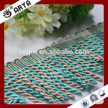 2016 Stock Producto Gran venta para el hogar Textil Sofá de decoración de lingotes Franja de recorte