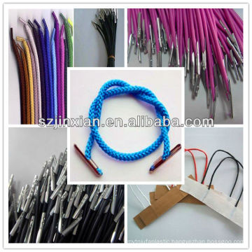 Cord with Plastic End/Twisted Cord with Clips/Braided cord with Barb