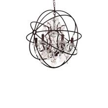 Hot Sale Restaurant Bar Hanging Lights Vintage Loft Style Black Cage  K9 Crystal Chandelier Pendant Lamp