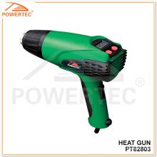 Powertec 2000W pistola de calor eléctrica de temperatura ajustable (PT82803)