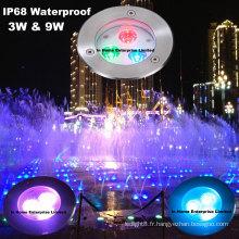 316 SS RGB Pool Light Led IP68 Piscine sous-marine Led Light avec DMX512