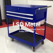 Armoire à outils pour atelier de roulement en métal à 2 tiroirs antichoc