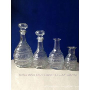 Engraved Glass Wine Bottles with Glass Lid