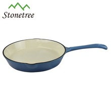 Round Cast Iron Enamel Frying Pan
