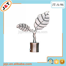 copper iron/metal telescopic curtain rod with leaf finial
