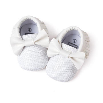 Fashion Tassel & Bowknot & Sequin Infant Toddler Moccasins