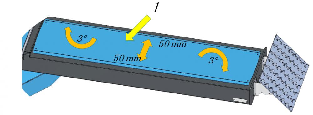 wheel alignment lift sliding plate