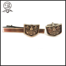 Eagle Engraved cufflinks and tie clip set
