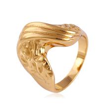 11508 Hot vente spécial dames bijoux irrégulière en forme de plaqué or bague en alliage de cuivre