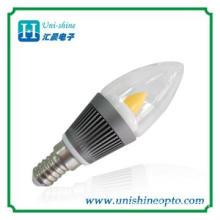 High quality 3W warm white led candle bulb