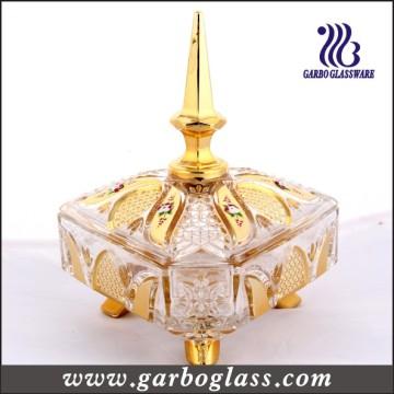 Galjanoplastia del tarro de cristal de oro / tarro de cristal