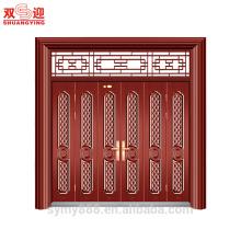 Elegante diseño Entrada de seguridad Muti-leaf Puerta Agradable riqueza Venga talla