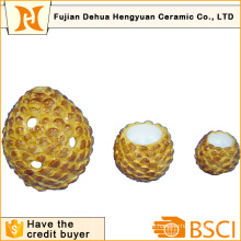 Ceramic Pinecone Shape Candle Holder for Home Decoration