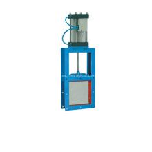 Válvula de guillotina neumática de cuadrados