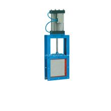 Válvula de guilhotina pneumática de quadrados