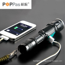 Classic Hidden USB Power Bank Design Zoom T6 LED Flashlight