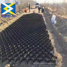 ZL HDPE geocells  soil stabilizer geocell driveway  mesh structure for railway construction geocel