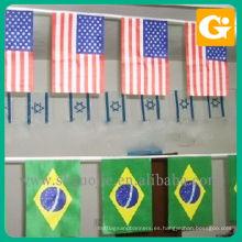Banderas internacionales colgantes personalizadas