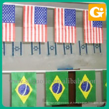 Personalizado pendurado bandeiras internacionais