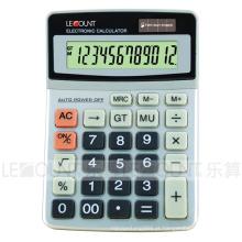Calculadora de escritório de dupla potência de 12 dígitos com capa de alumínio duro (CA1223)