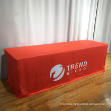 Tradeshow polyester fabric Fitted table throw table covers table cloth