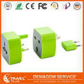 Worldwide travel adapter for 150 countries with multi function socket