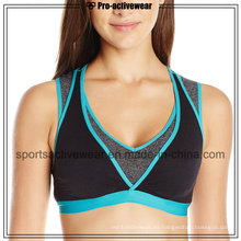 OEM mejor sublimación por encargo mujeres deporte sujetador