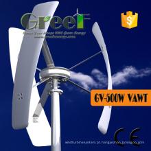 Turbina eólica vertical pequena da linha central para o uso home