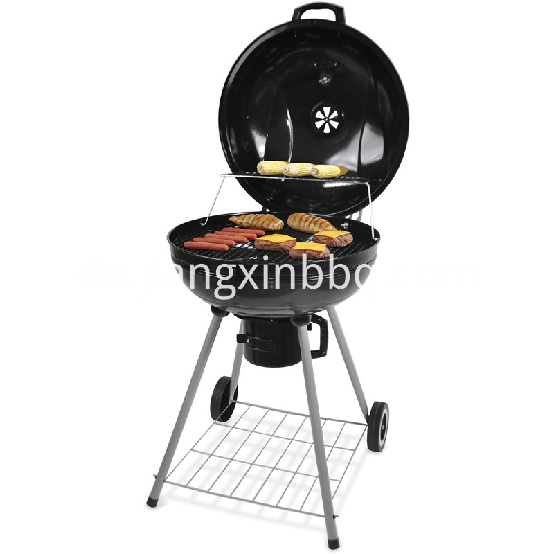 22 5 Inch Kettle Glossy Porcelain Charcoal Grill