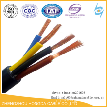 1.5 sq mm 4 core flexible cable with copper wire
