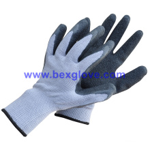 10 Guage Polyester Latex Glove Work Glove