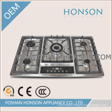 Kitchen Appliance Gas Cooker Gas Hob with Aluminum Burners