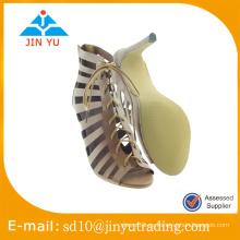 Precio de fábrica barato China nueva sandalia del alto talón del sexo del diseño