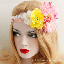 Gets.com Jeweled Lace Flower Factory Bande de cheveux
