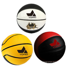 Guangzhou YONO best quality pu basketball leather cheap basketball in bulk custom basketball
